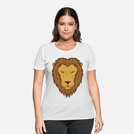 Gift Idea T-Shirts - lion king of the animals animal zoo animal park Ju - Women's Plus Size T-Shirt white