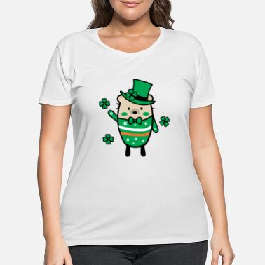 Lucky Charm Mochie -St.Patrick's day - Women's Plus Size T-Shirt