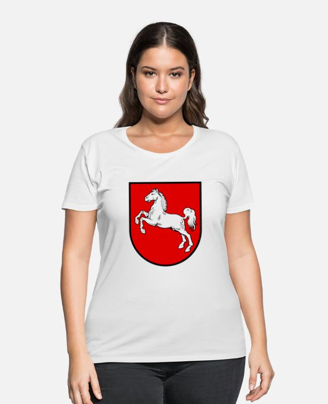 Saxony T-Shirts - Lower Saxony Coat Of Arms - Women's Plus Size T-Shirt white