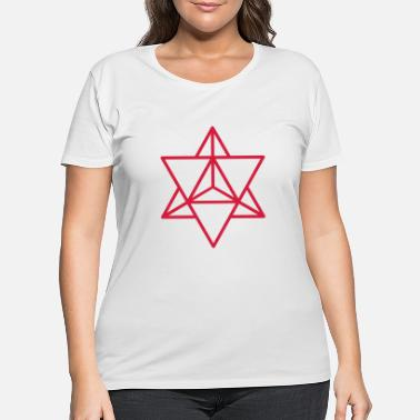 Body merkaba sign 1 - Women's Plus Size T-Shirt