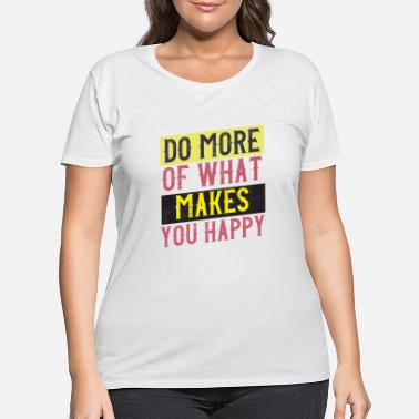 Typo happy vintage style quote - Women's Plus Size T-Shirt