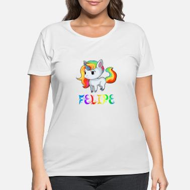 Felipe Birth Felipe Unicorn - Women's Plus Size T-Shirt