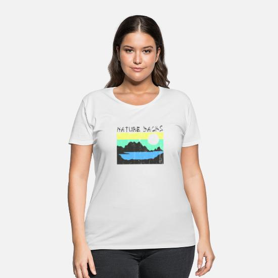 Camping T-Shirts - Nature Backs - Women's Plus Size T-Shirt white