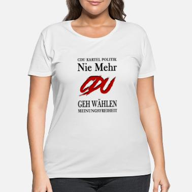 Cdu nie mehr CDU German politics - Women's Plus Size T-Shirt