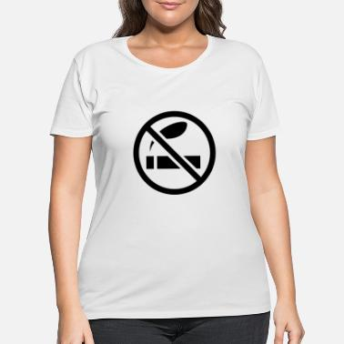 Smoking Ban Non smoking smoke ban - Women's Plus Size T-Shirt