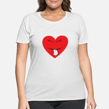 Cuore hearts and smiles shirt - Women's Plus Size T-Shirt