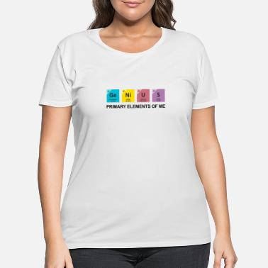 Genius Genius | Primary Elements Of Me - Women's Plus Size T-Shirt