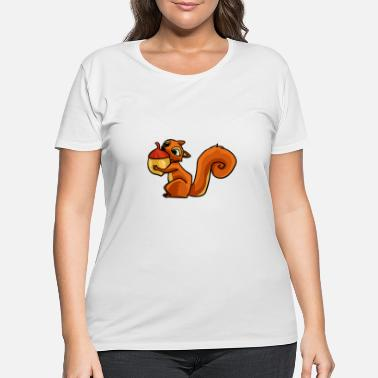 Squirrel Squirrel Striped Squirrel Sweet Gift - Women's Plus Size T-Shirt
