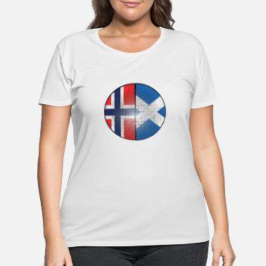 Norway Norway and Scotland Puzzle Effect Dual Citizen DNA - Women's Plus Size T-Shirt