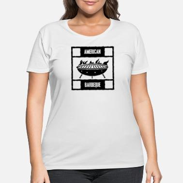 American BBQ - Women's Plus Size T-Shirt