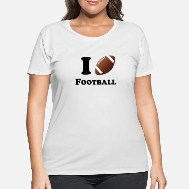 I Heart Football I Heart Football - Women's Plus Size T-Shirt