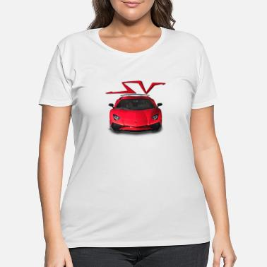 Aventador SV Red - Women's Plus Size T-Shirt