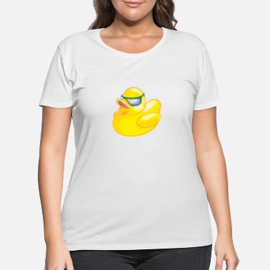 Rubber Yellow Cool Rubber Duck - Women's Plus Size T-Shirt