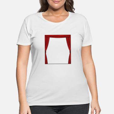 Curtain Curtain frame - Women's Plus Size T-Shirt