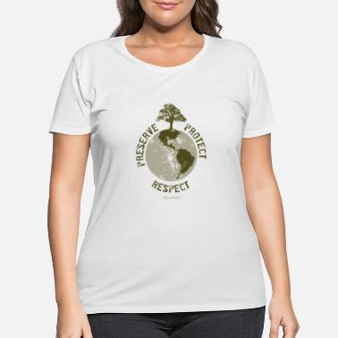 Planet Preserve Respect Protect - Women's Plus Size T-Shirt