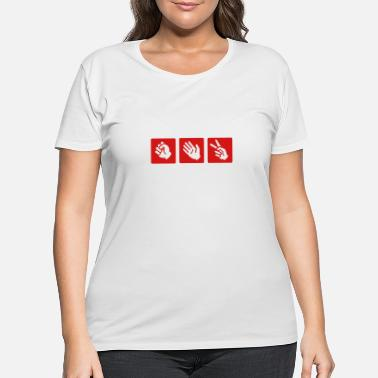 Paper rock - paper- scissors - Women's Plus Size T-Shirt
