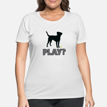 Golden Retriever Tennis Ball Pup Play Puppy Play - Women's Plus Size T-Shirt