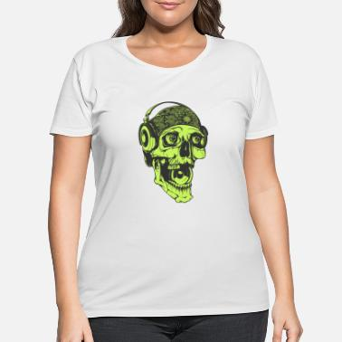 Dj Music skull Dj headphones streetwear vector image - Women's Plus Size T-Shirt