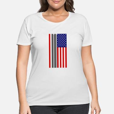 World Trade Center USA Flag - 9/11 World Trade Center Tribute - Women's Plus Size T-Shirt