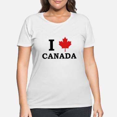 Quebec I Love Canada - Women's Plus Size T-Shirt