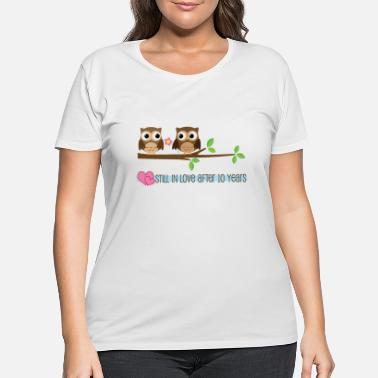 Ten Years After 10th Anniversary Owl Love - Women's Plus Size T-Shirt