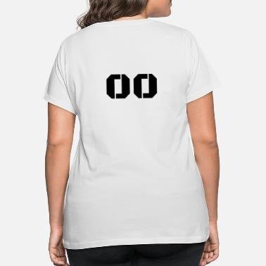 Jersey Number Jersey Number 00 - Women's Plus Size T-Shirt