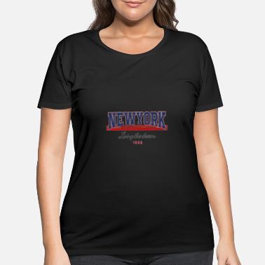 376b61edb NEWYORK Living The Dream slogan graphic - Women's Plus Size ...