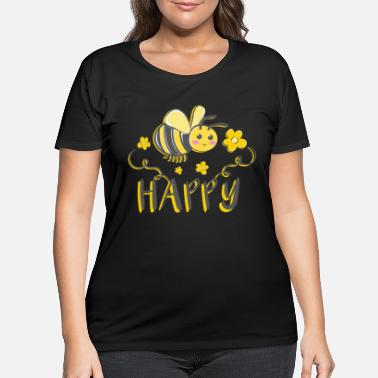 Bee Bee Happy Save The Bees Beekeeper Honey Bee Cute - Women's Plus Size T-Shirt