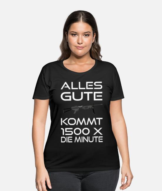 Office T-Shirts - Machine Gun German Armed Forces Soldier - Women's Plus Size T-Shirt black