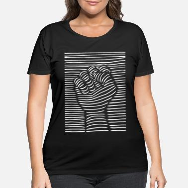 Fist BLACK LIVES MATTER FIST - Women's Plus Size T-Shirt