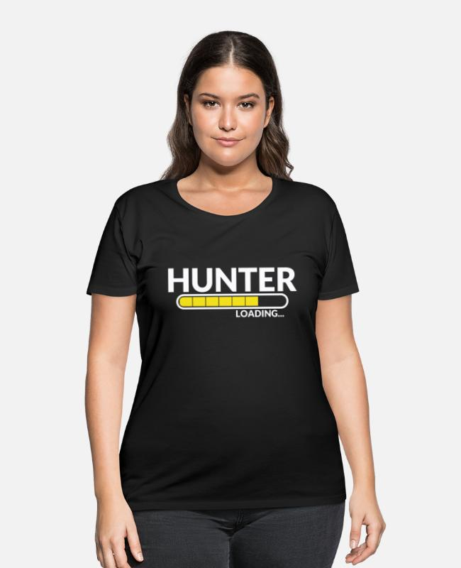 Stag T-Shirts - Hunter Chemistry Hunting Club Funny Gift - Women's Plus Size T-Shirt black