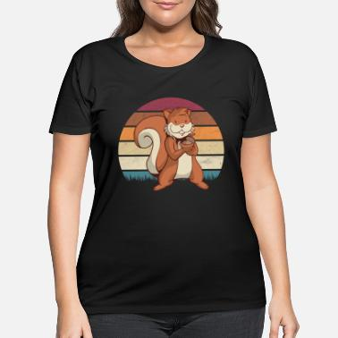 Squirrel Squirrel - Women's Plus Size T-Shirt