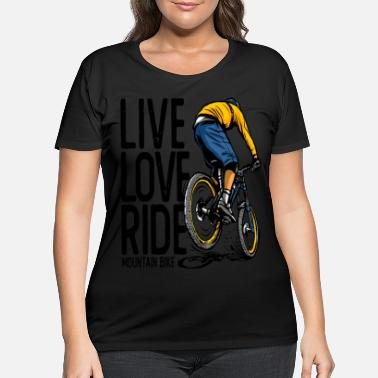 Bike Bicycle Biker Retro Bike - Women's Plus Size T-Shirt