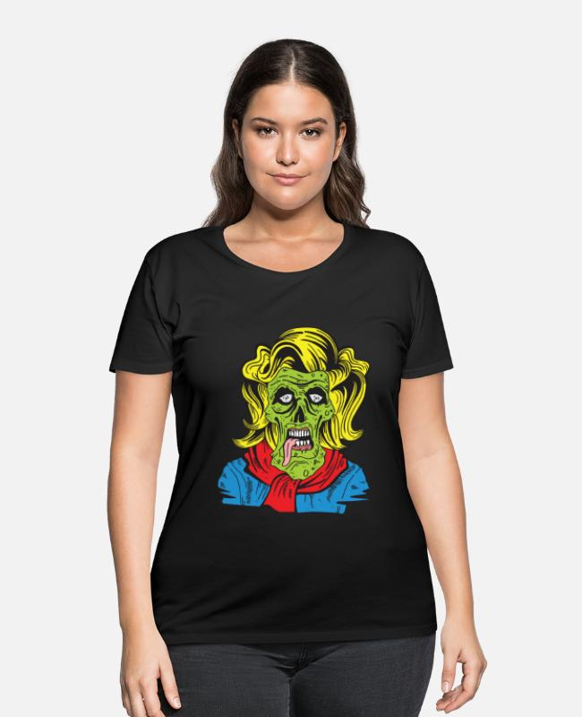 Pop T-Shirts - zombie pop - Women's Plus Size T-Shirt black