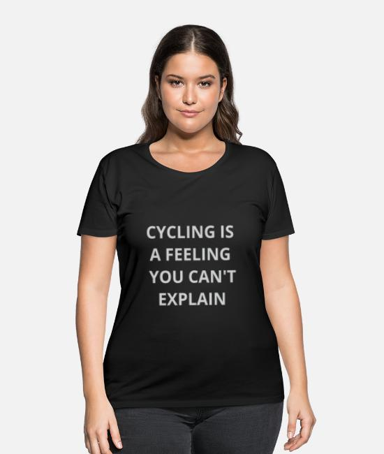 Bicycle T-Shirts - Bicycle Cycle Games Man Men Woman Women Present - Women's Plus Size T-Shirt black