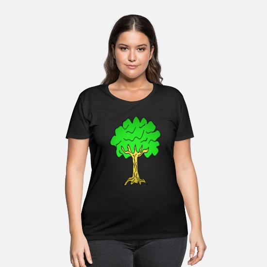 Nature T-Shirts - Beautiful nature. Tree for environment and Nature - Women's Plus Size T-Shirt black