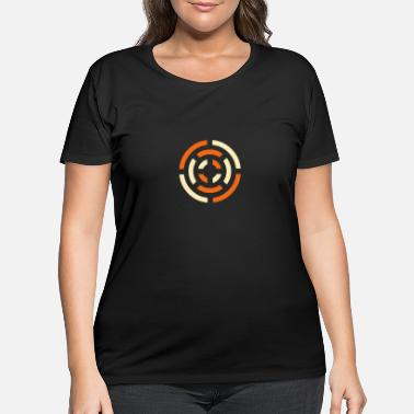 Abstract circle sign - Women's Plus Size T-Shirt
