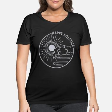 Solstice Happy Solstice Winter Sun Christmas Holiday - Women's Plus Size T-Shirt