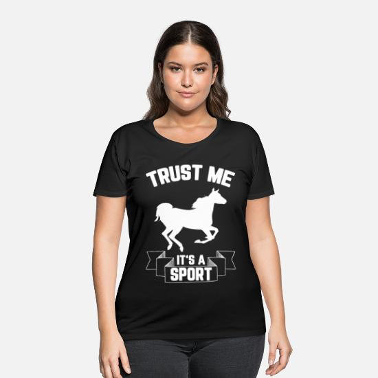 Sports T-Shirts - Riding Sports Ride Horse Gifts Horses Pony Present - Women's Plus Size T-Shirt black