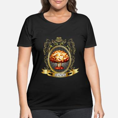 Atomic Energy Atomic Explosion - Atomic Energy - Monday - Women's Plus Size T-Shirt