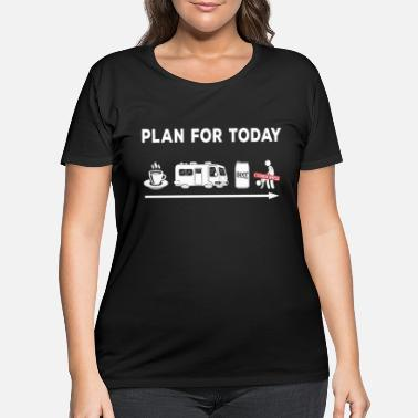 Sex Camper RV Camping Coffee Beer Sex Camper Aduld Humor - Women's Plus Size T-Shirt
