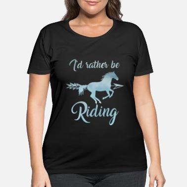 Thelwell Horse Riding Gift for Girls Equestrian lover - Women's Plus Size T-Shirt