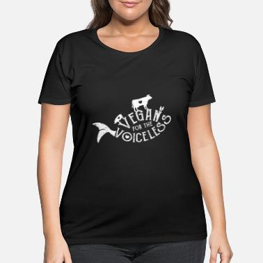 Vegan Bio Animal - Women's Plus Size T-Shirt