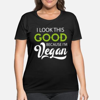 Vegan Vegan gift saying plants - Women's Plus Size T-Shirt