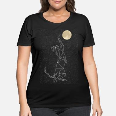 Constellation Cat Constellation Reaching For Moon - Women's Plus Size T-Shirt