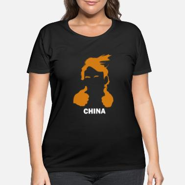 China Funny Trump Hair and China - Women's Plus Size T-Shirt
