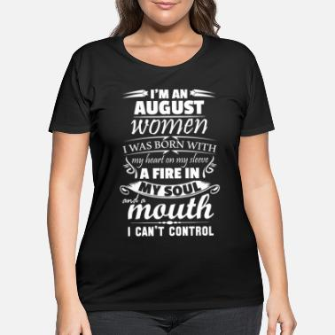 Soul I Am An August Women - Women's Plus Size T-Shirt