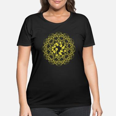 Magic Mushrooms Mandala Psychodelic magic design - Women's Plus Size T-Shirt