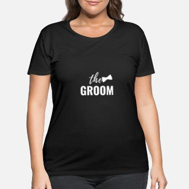 Groomy Groom Wedding JGA stag party gift drink celebrate - Women's Plus Size T-Shirt