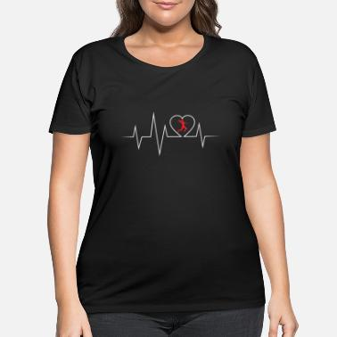 Goalkeeper Handball ECG love and heartbeat - Women's Plus Size T-Shirt